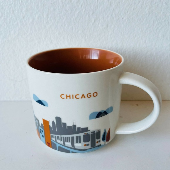 Starbucks You Are Here Chicago Coffee Mug 14 Oz